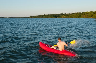 Photo: A teenage boy on Leech Lake, MN.