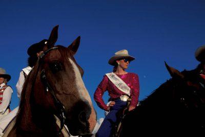 Photo: Rodeo queens at Nebraska's Big Rodeo in Burwell.