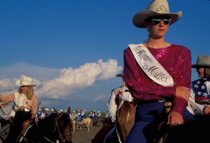 Photo: Rodeo queens at Nebraska's Big Rodeo in Burwell.