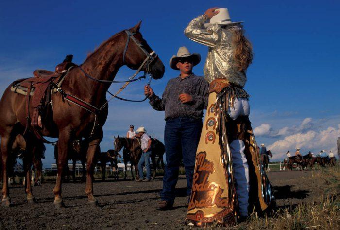Photo: Miss Rodeo Nebraska at Nebraska's Big Rodeo in Burwell.