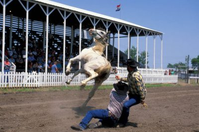 Photo: The wild horse race at Nebraska's Big Rodeo in Burwell.