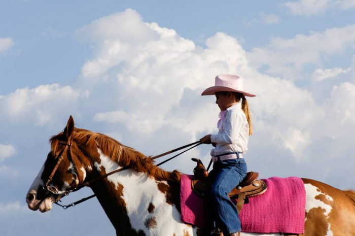 Photo: A young cowgirl at Nebraska's Big Rodeo in Burwell.