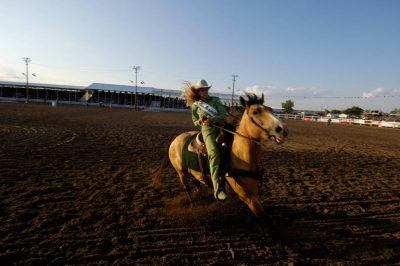 Photo: A rodeo queen at Nebraska's Big Rodeo in Burwell.