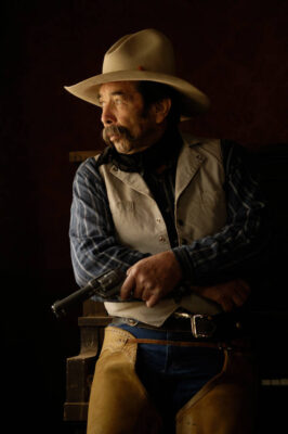 Photo: A cowboy hangs out at the Eaves Movie Ranch near Santa Fe.
