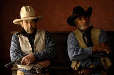 Photo: Two cowboys hang out at the Eaves Movie Ranch near Santa Fe.