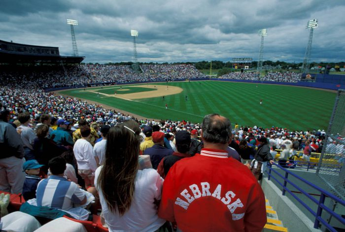 Photo: The College World Series (baseball) at Rosenblatt Stadium in Omaha, Nebraska.