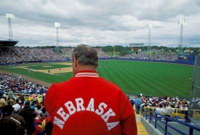 Photo: The College World Series (baseball) at Rosenblatt Stadium in Omaha, Nebraska.