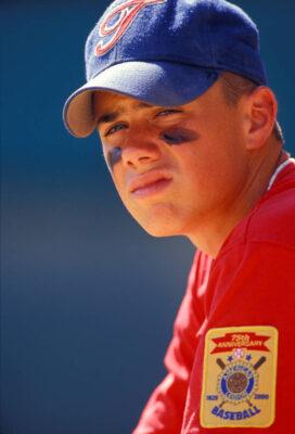 Photo: A young man at a baseball game in Nebraska.