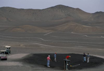 Photo: Club de Golf is in Arica, Chile in the Atacama Desert, the driest place on earth.