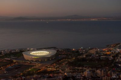 Photo: A soccer stadium in Cape Town, South Africa.