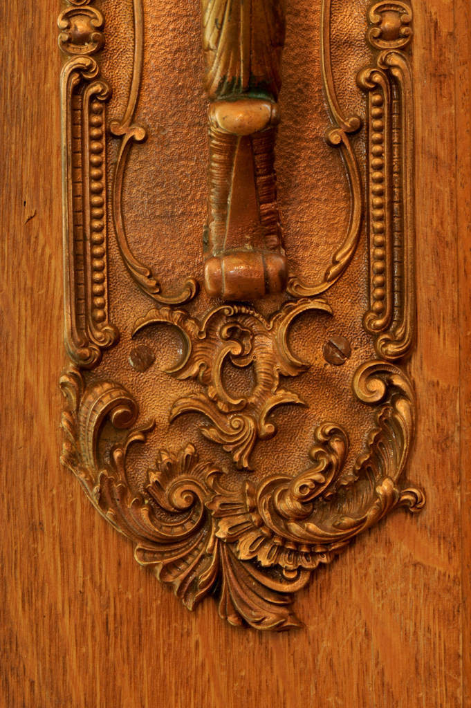 Photo: Old hardware on a front door.