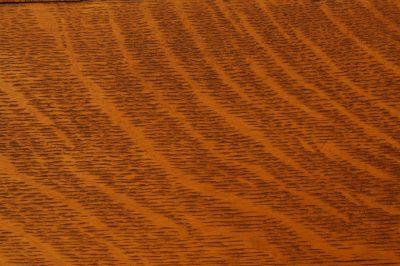 Photo: Quarter-sawn oak from a front door.