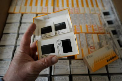 Photo: Slide film in storage.