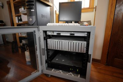 Photo: A file server that stores digital images at Joel Sartore Photography