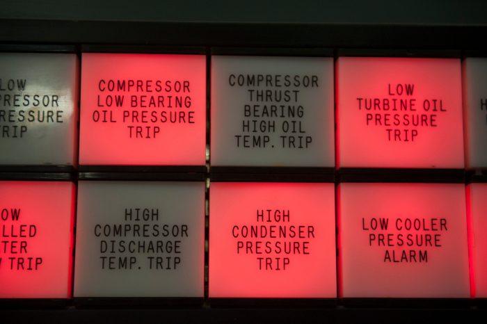 Photo: Controls at a utility plant, Lincoln, Nebraska.