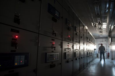 Photo: Equipment at a utility plant, Lincoln, Nebraska.