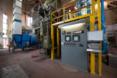 Photo: Equipment at a utilities plant, Lincoln, Nebraska.