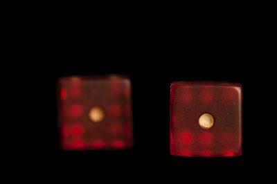 Photo: A studio shot of a pair of dice, Lincoln, Nebraska.