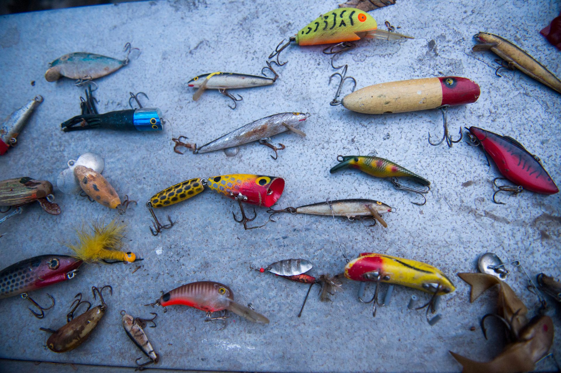 Photo: Fishing lures.