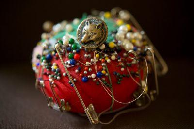 Photo: A well-used pincushion.