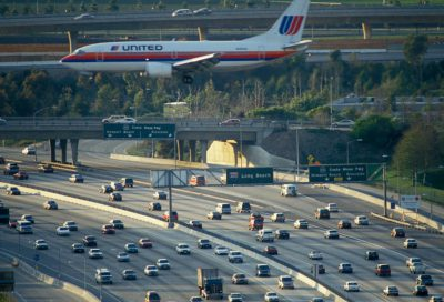 Photo: Southern California traffic near Los Angeles International Airport.