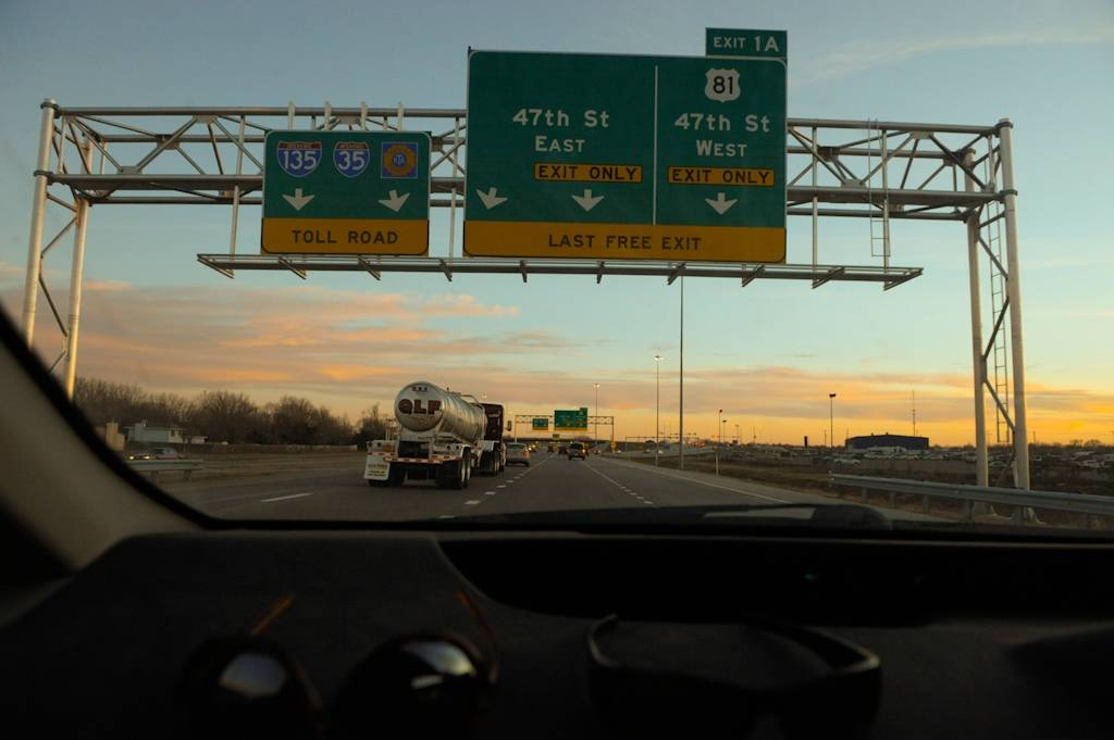 Photo: On the road to Texas from Kansas.