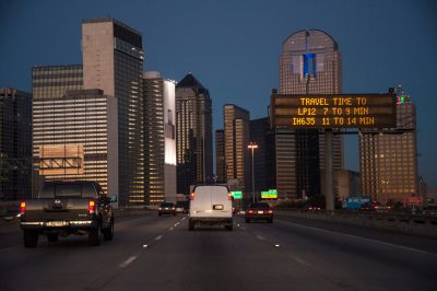 Photo: Scene from Interstate 345 in Dallas, Texas.
