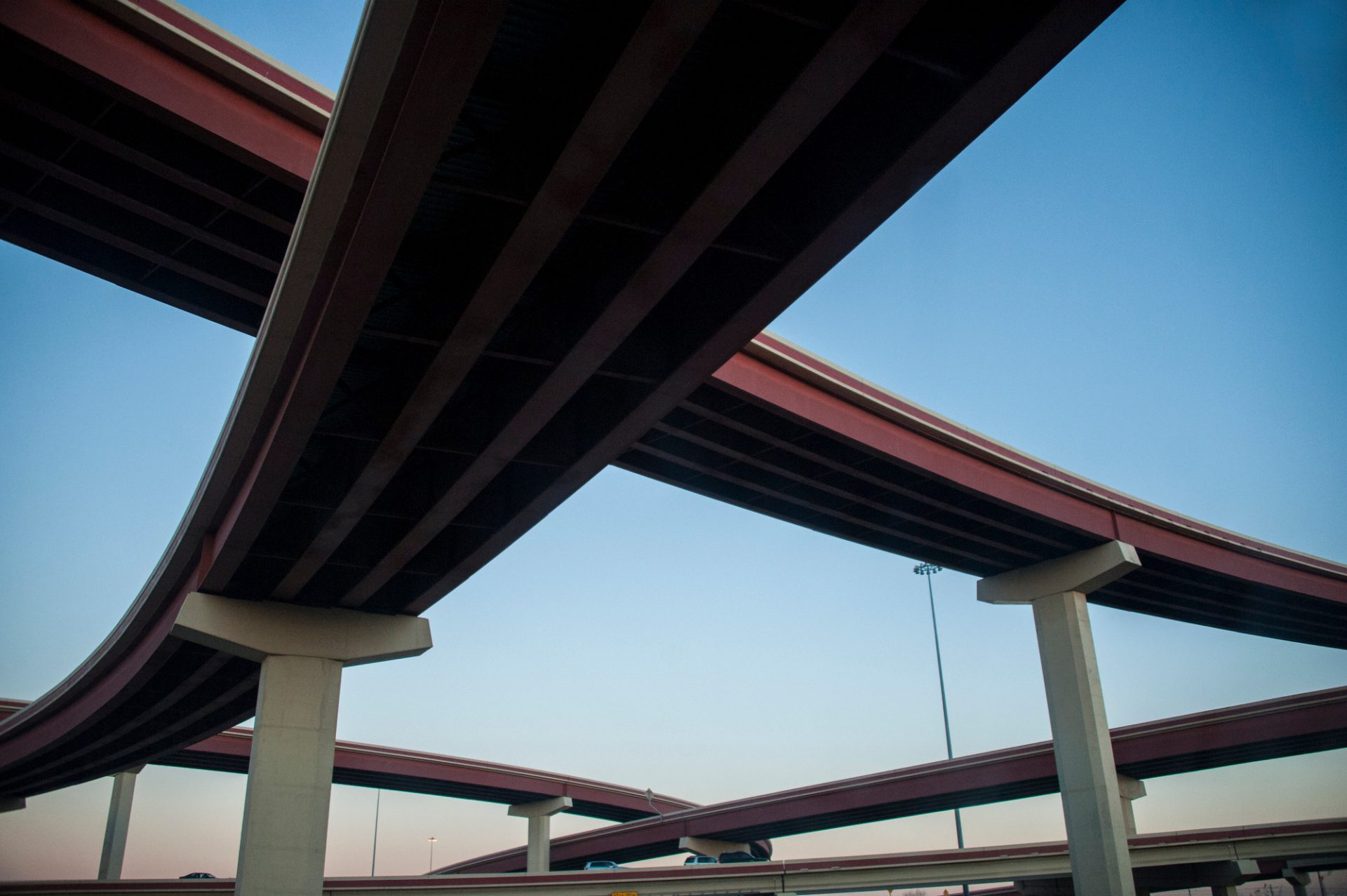 Photo: Bridges along interstate 35 in Texas.