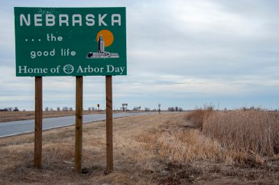 Photo: Entrance to the state of Nebraska from the South.