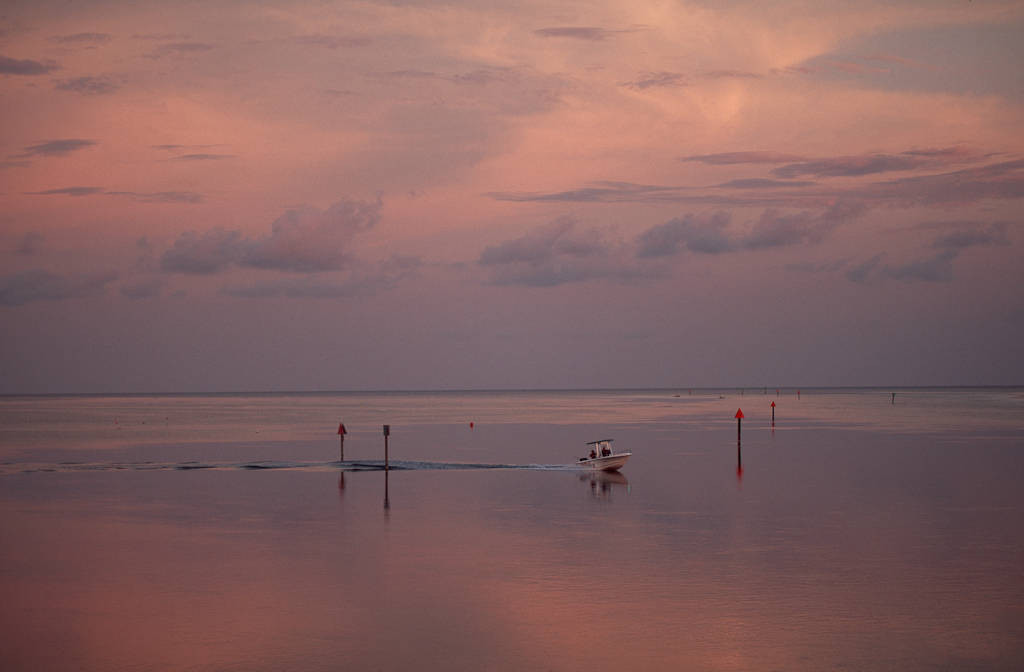 Photo: Boating in Florida's middle keys.