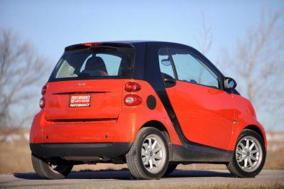 Photo: An environmentally-friendly Smart Car.