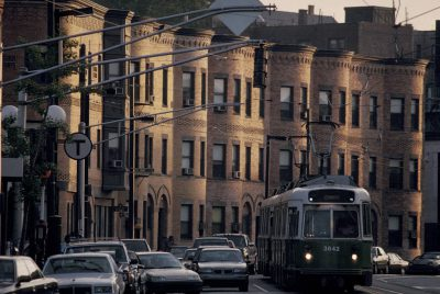 Photo: A trolley car in Boston, part of the city's mass transit system.