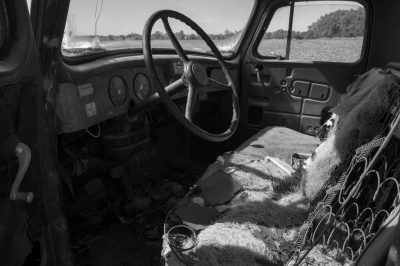 Photo: An old International Harvester truck on a farm in Bennet, Nebraska.