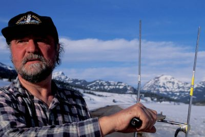 Photo: Wolf biologist David Mech tracks reintroduced gray wolves in Yellowstone National Park.